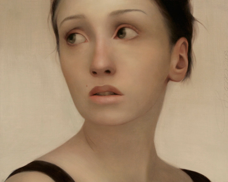 """""""Study of Kelsie I"""" - Oil on panel by Lucong"""