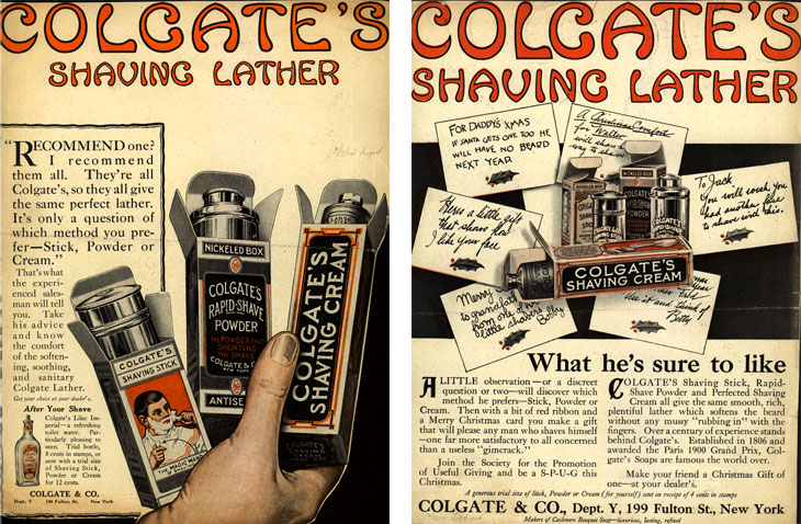 Colgate's Shaving Lather - 1914