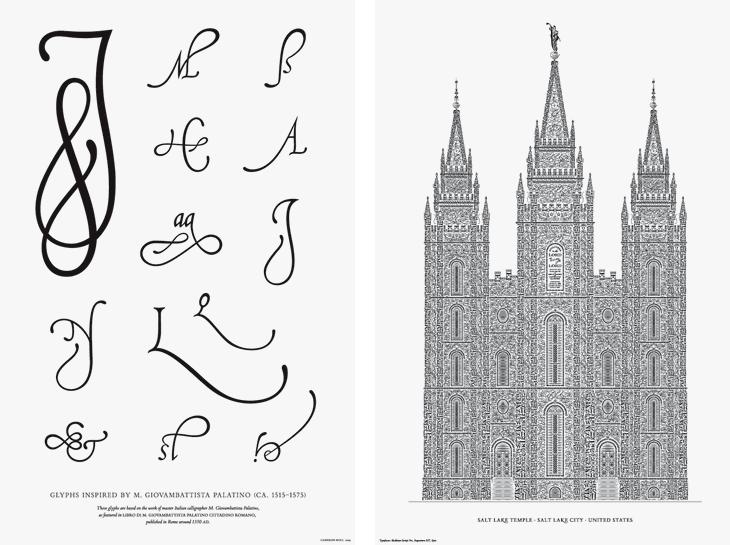 Palatino Glyphs and Letterpress Posters - Cameron Moll