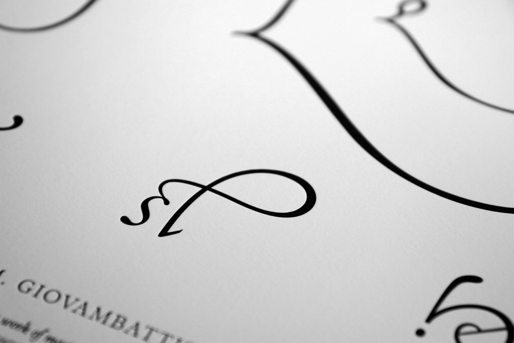 Palatino Glyphs Poster (detail)