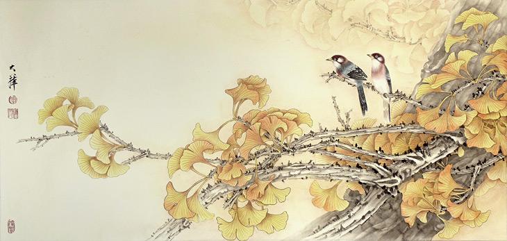 Birds in Fall by Lou Dahua