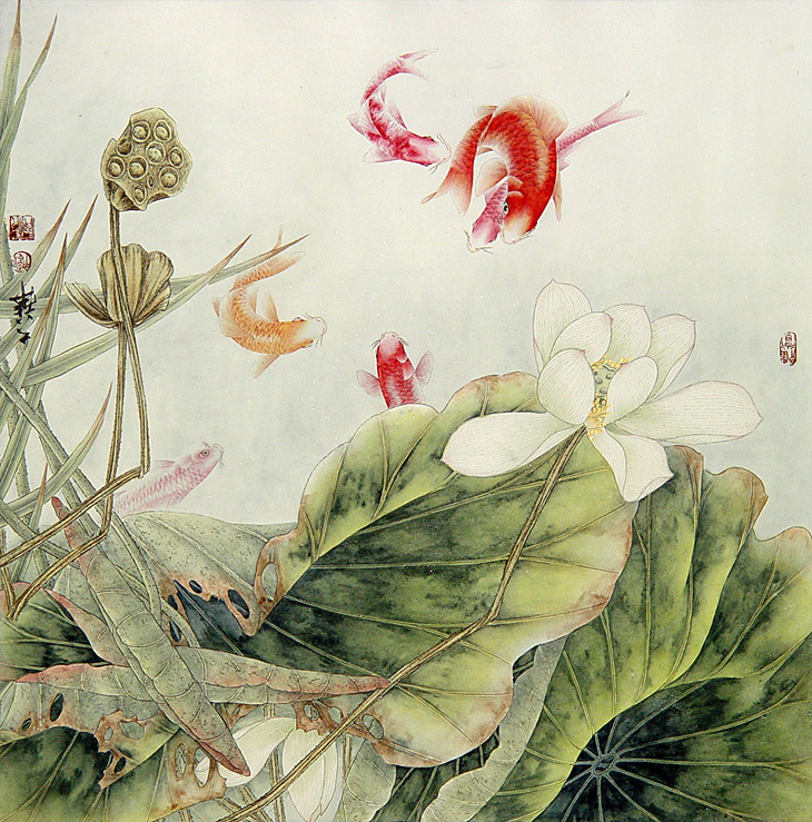Fish and Lotus by Lou Dahua