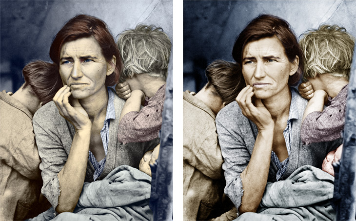 Migrant Mother - comparison